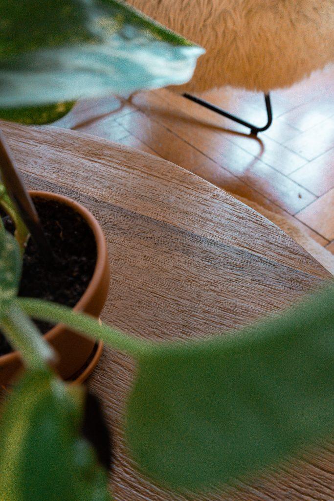 Ein Close-Up vom Material von Fridlaas Couchtisch Leandra von Delife aus Exotic Wood